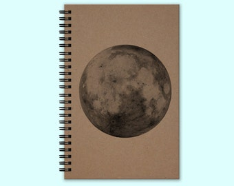 Full Moon - Journal, Book, Custom Journal, Sketchbook, Scrapbook, Extra-Heavyweight Covers