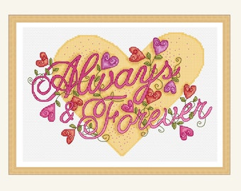 always and forever cross stitch pattern