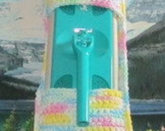 0397 Hand crochet swiffer mop cover