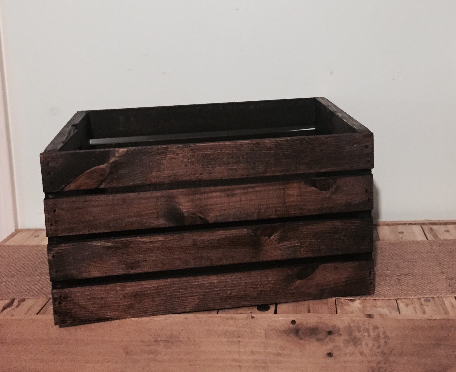 Rustic Pallet Wood Crate Storage Crate Toy By