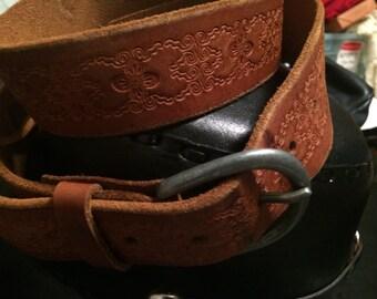 Vintage  tooled old navy belt