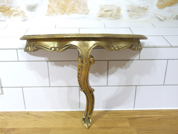Items Similar To French Gold Wall Shelf // Florentine Gold