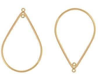 1 Pair 26x41 mm Gold Filled Teardrop Drop (GF4003125)