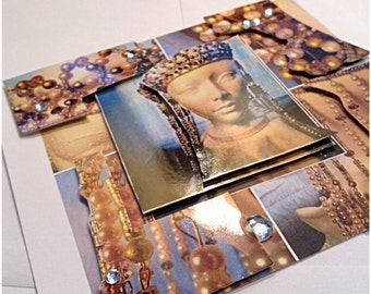 3D Greeting card  Byzantine inspired crown