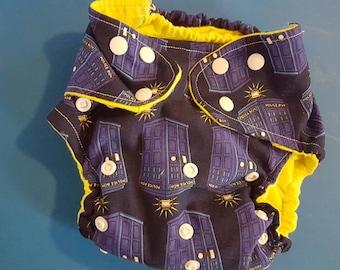 medium Dr. Who cloth diaper