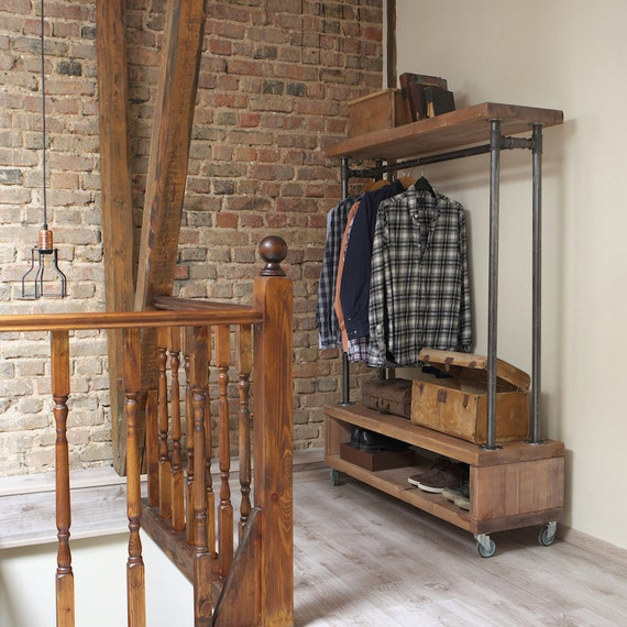 Industrial Style Clothing Storage Unit