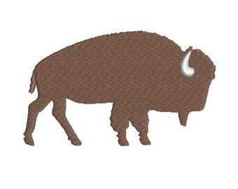 "4"" W Large - Just a Wild Buffalo Embroidery Design - Instant Digital Download"