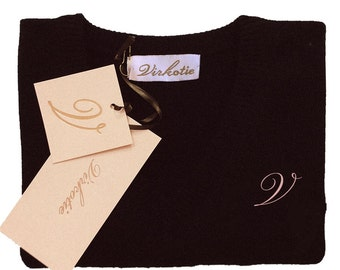 Virkotie BLACK 100% Cashmere Long Sleeve Sweater