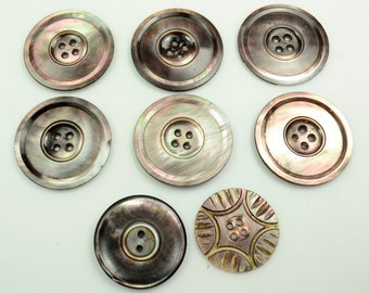 Eight Vintage Mother-of-Pearl Buttons