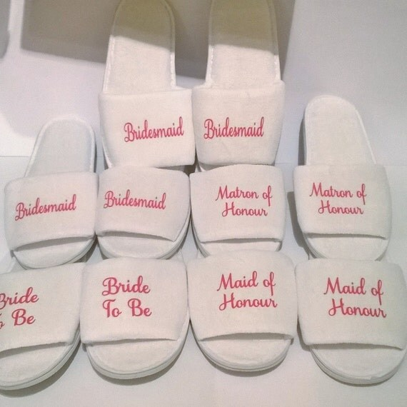 Personalized Wedding Slippers Bridal Party Slippers: Personalised Wedding Slippers Bridal Party Slippers Wedding