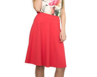 A Line Coral  Casual Skirt