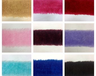 11 Different Colors 5 Inch FAUX FUR Trim Ribbon Price Per 5 Yards