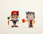 Gravity Falls Inspired Chibi Grunkle Ford aka Stanford & Grunkle Stan aka Stanley Pines 2 Piece Magnet Set (Custom Design)