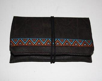 "Tobacco leather bag ""Zuni"""