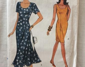Vintage 1991 UNCUT New Vogue 8019 Misses Size 8, 10, and 12 Dress Pattern