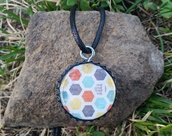 Bottle Cap Pendant Necklace