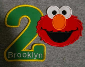 Made to order ~ Personalized Red Monster Number (You Choose a number) iron on or sew on applique patch