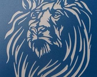 Lion 02 Stencil