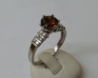 925 Silver ring with cubic zirconia burned, SR435