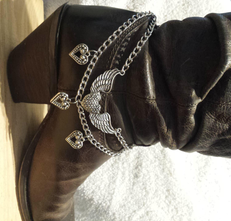 Flying Heart Boot BraceletBoot BlingBoot ChainWestern