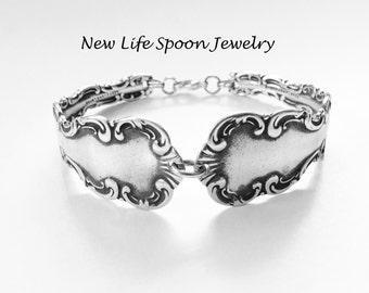 Spoon Bracelet Lacey Design Handmade Christmas Gift Fork Jewelry Silver Bracelet Antique Jewelry Vintage Bracelet- 401a