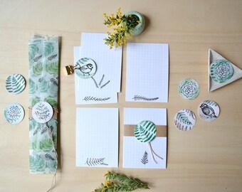 Botanical Cards - Set of 5