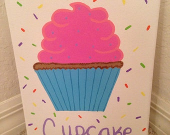 Cute little cupcake canvas