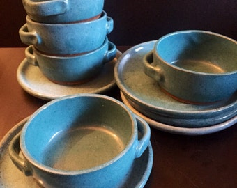 Totally Azul Vintage Handled Soup Bowl