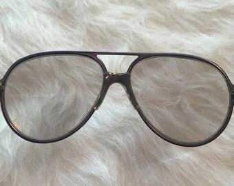 Large grey aviator saftey glasses