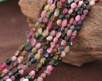 Natural Polished Genuine Tourmaline Gemstone Nuggets Pebble Beads Supplies (JY5)