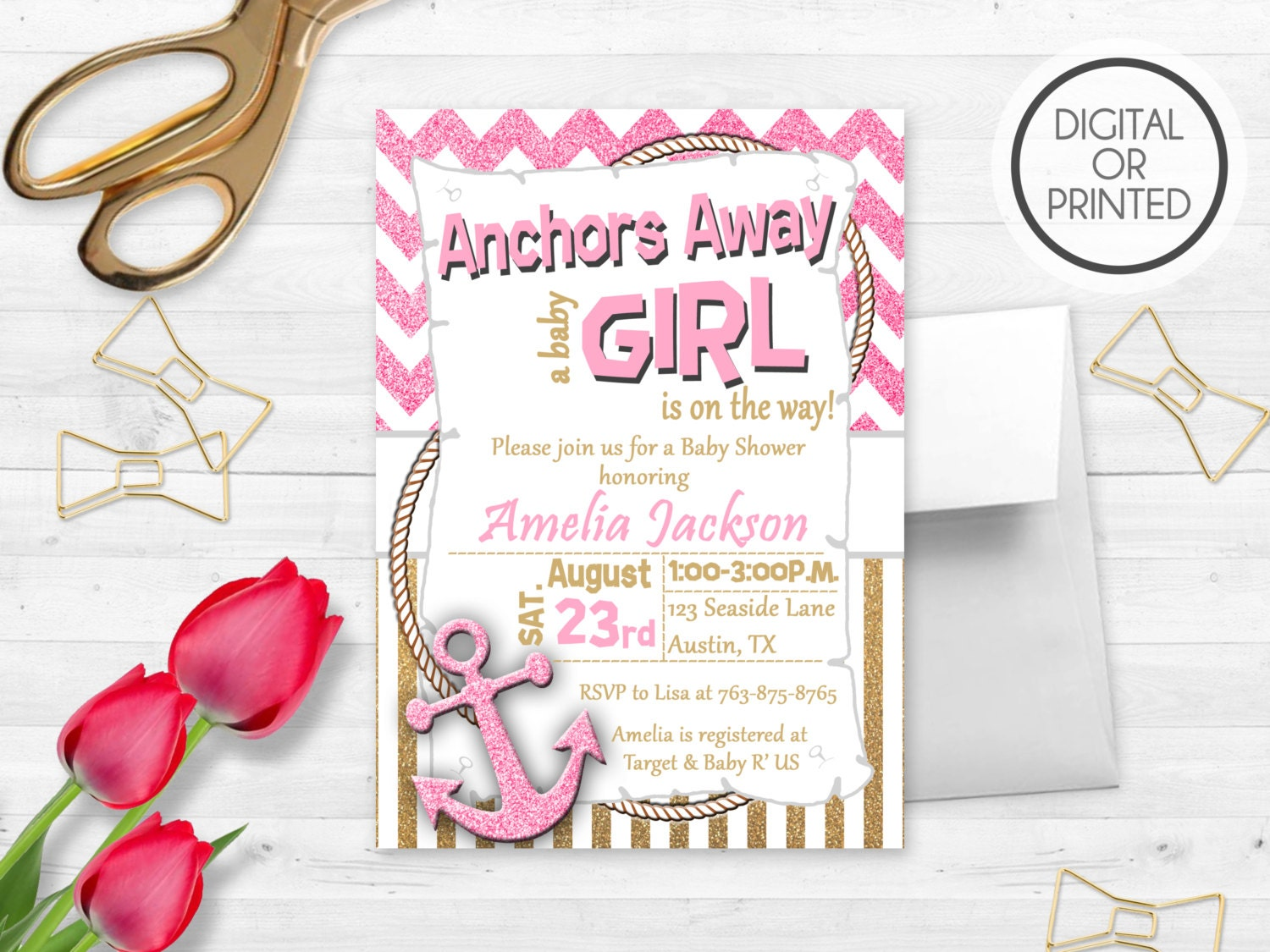 anchor baby shower invitations anchors away baby shower