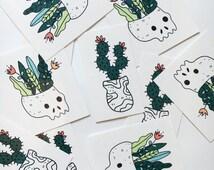 Plants Temporary Tattoos - set of 2