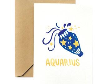 Birthday Greeting Card | Aquarius Horoscope