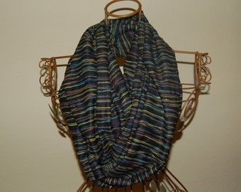 Infinity Scarf - Black/Multi Color