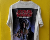 ON SALE 25% STAR Wars A New Hope 1995 Movies Action Adventure 90's T shirt Size L