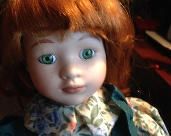 Avonlea Traditions Treasury Edition c.1980s Porcelain Anne of Green Gables collector doll.  Made in Canada w/tags.
