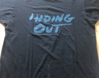 RARE Vintage 80s Hiding Out T Shirt