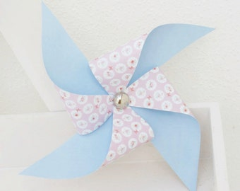 Lovely set of 3 paper pinwheels Barcelona's Shabby Chic Colection
