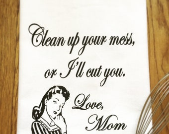 Love Mom Tea Towel