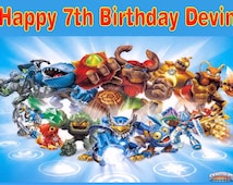 Personalized Birthday Party Edible Image Icing Frosting Sheet Cake Topper - 1/4 Sheet Sized - SKYLANDERS GIANTS
