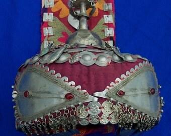 Rare Antique Uzbek Wedding Hat