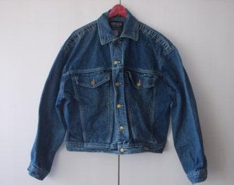 90s Versace Jeans Couture Denim Jacket [Size 32 44, 90s fit, Ittierre S.p.A.]