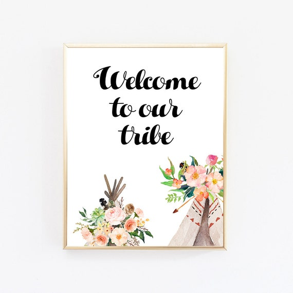 Items similar to best selling items welcome to our tribe for Best selling home decor etsy