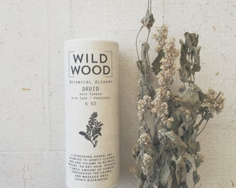 Wildwood DRUID Dry Shampoo, Hair Powder, Hair Care, Hair Cleanser w/ Sage and Horsetail