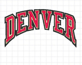 Denver Pioneers Embroidery Design, 4x4, Instant Download