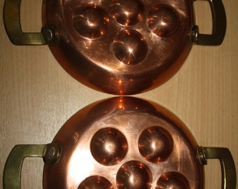 2 dishes to snails Spring, copper, stainless steel and brass
