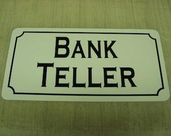bank teller sign etsy