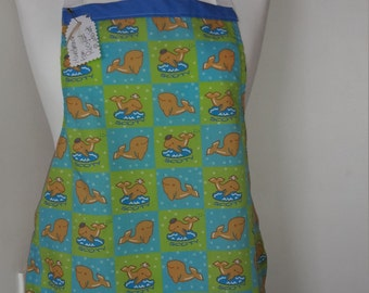 Childrens Handmade Apron with Fish detail