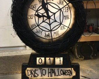 Nightmare Before Christmas inspired countdown Clock/Wreath