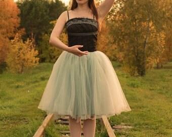 Grey tulle skirt  Gray bridesmaid skirts Gray adult tutu Tulle maxi skirt  Adult full length Tutu Wedding skirt tulle Plus size tulle skirt
